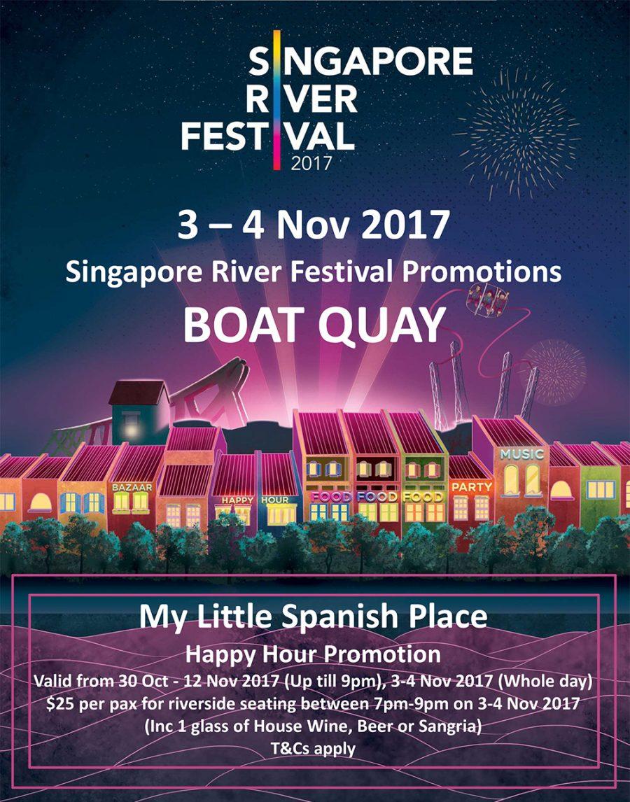 Singapore River Festival Promotions (31 Oct – 12 Nov)